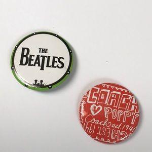 Coach Poppy Pin Brooch Beatles Pin